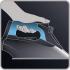 Žehlička Rowenta Focus DW5220F1 černá/vínová