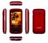 Mobilní telefon Aligator VS 900 Senior Dual SIM stříbrný/červený