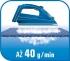 Žehlička Tefal SMART PROTECT FV4980E0  bílá/modrá