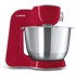 Kuchyňský robot Bosch CreationLine MUM58720 stříbrný/červený