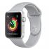 Chytré hodinky Apple Watch Series 3 GPS 38mm pouzdro ze stříbrného hliníku - mlhově šedý sportovní řemínek
