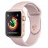 Chytré hodinky Apple Watch Series 3 GPS 42mm pouzdro ze zlatého hliníku - pískově růžový sportovnm řemínek