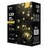 Vánoční osvětlení EMOS 120 LED, 12m, řetěz, teplá bílá, časovač, i venkovní použití