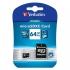 Paměťová karta Verbatim Premium micro SDXC 64GB Class 10 + adaptér