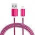 Kabel GoGEN USB / lightning, 1m, opletený fialový