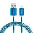 Kabel GoGEN USB / lightning, 1m, opletený modrý
