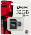 Paměťová karta Kingston MicroSDHC 32GB Class4  + adapter