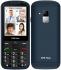Mobilní telefon CPA Halo 18 Senior s nabíjecím stojánkem modrý