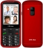 Mobilní telefon CPA Halo 18 Senior s nabíjecím stojánkem červený