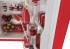 Chladnička Candy Retro retro CKRTOS 544RH červená