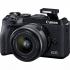 Digitální fotoaparát Canon EOS M6 MARK II + EF-M 15-45 IS STM + EVF hledáček černý