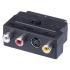 Redukce EMOS 3x Cinch + S-Video / SCART  černá