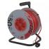 Kabel prodlužovací na bubnu EMOS 4x zásuvka, 50m červený