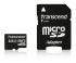 Paměťová karta Transcend MicroSDHC 4GB Class4 + adapter černá