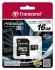 Paměťová karta Transcend MicroSDHC Premium 16GB UHS-I U1 (45MB/s) + adapter