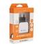 Nabíječka do sítě GoGEN ACH 201 C, 2x USB + microUSB kabel 1,2m černá/bílá