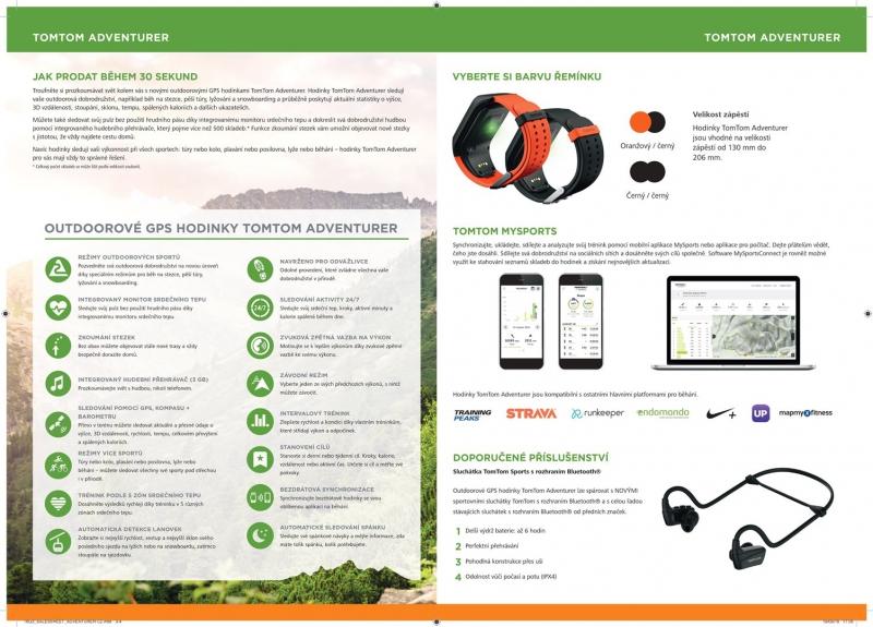 ... GPS hodinky Tomtom Adventurer Cardio + Music oranžové ... 1f17ef49753