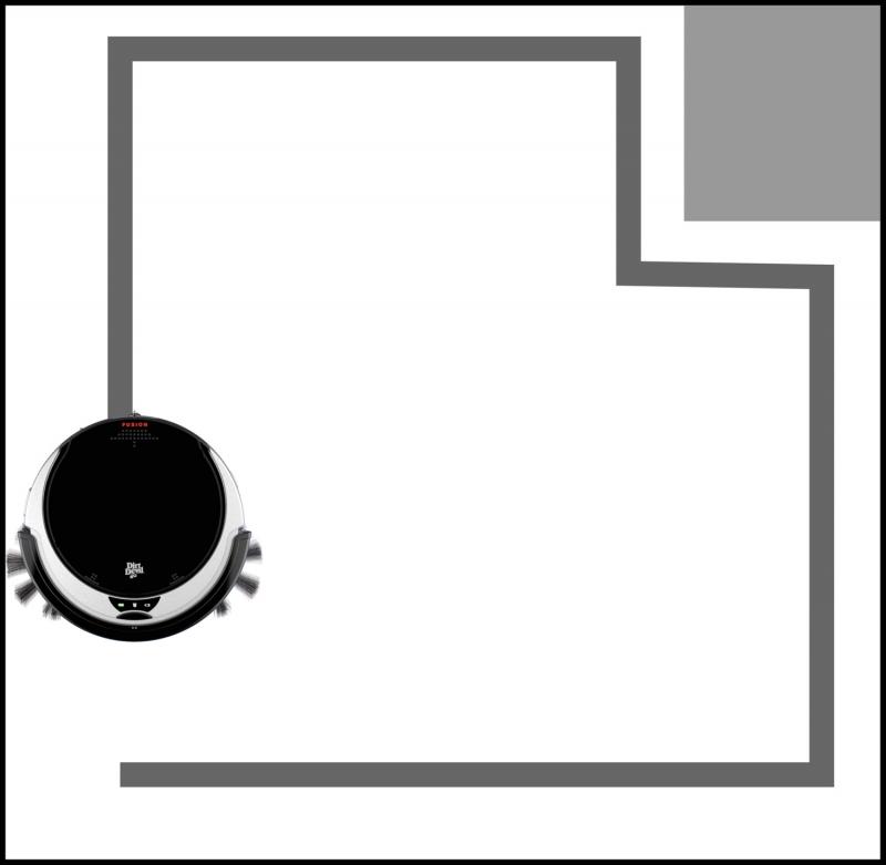 vysava robotick dirt devil fusion robot m611 ern. Black Bedroom Furniture Sets. Home Design Ideas