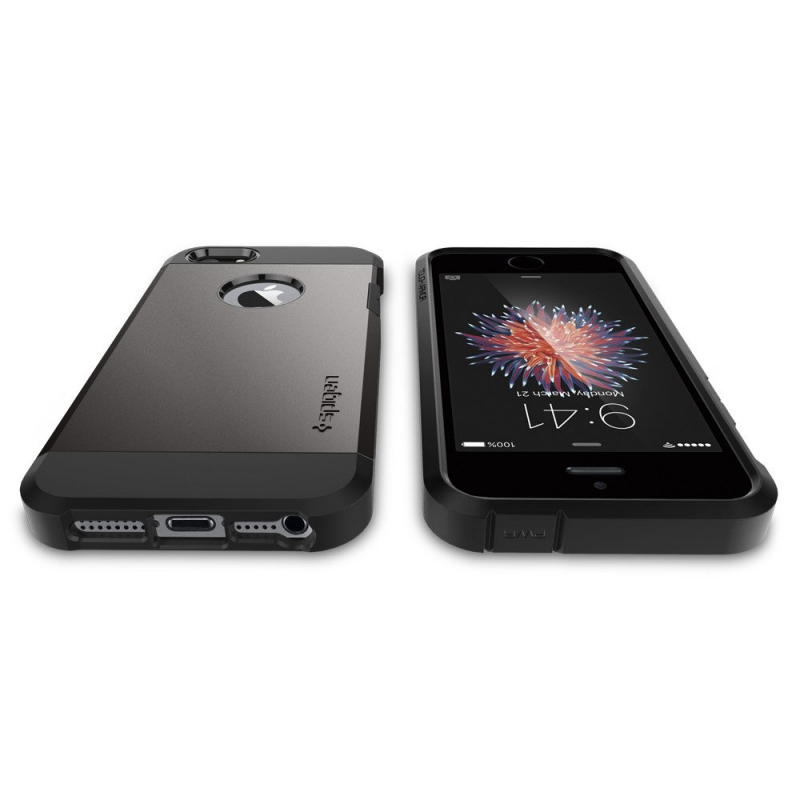 ... Kryt na mobil Spigen Tough Armor Apple iPhone 5 5s SE - gunmetal ... 7c925f30b98