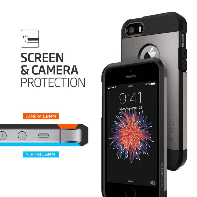 Kryt na mobil Spigen Tough Armor Apple iPhone 5 5s SE - gunmetal ... bba2e4259cb