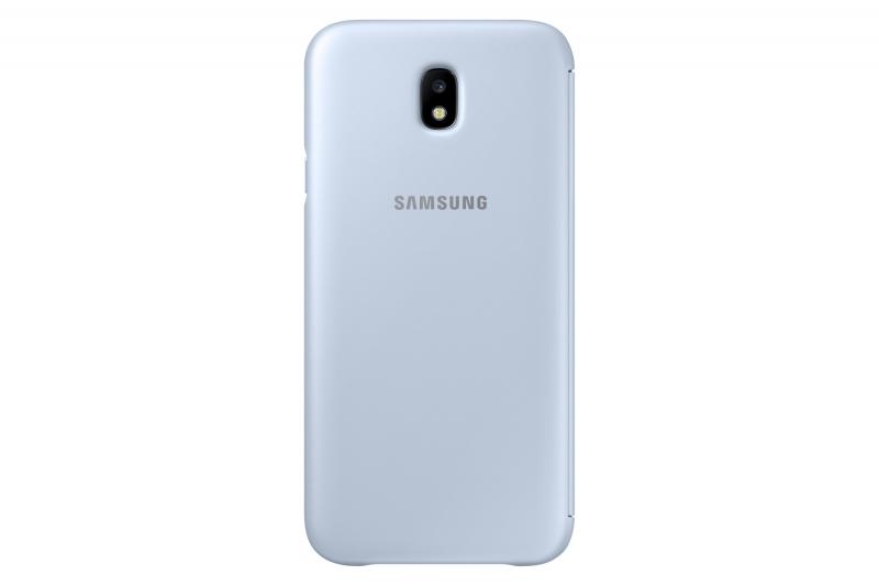 Pouzdro na mobil flipové Samsung Wallet Cover pro J5 2017 modré ... 9fb7aa51091
