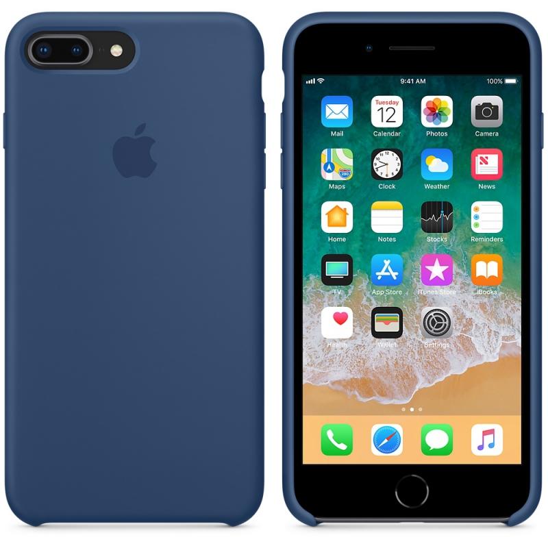 ... Kryt na mobil Apple Silicone Case pro iPhone 8 Plus   7 Plus - kobaltově  modrý ... a3277afcd7c