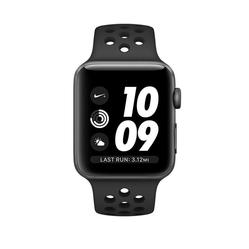 ... Chytré hodinky Apple Watch Series 3 Nike+ 42mm pouzdro z vesmírně  šedého hliníku - černý Nike ... 5faa0789e2