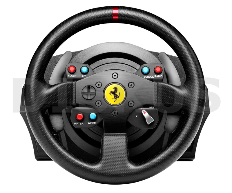 volant thrustmaster t300 ferrari gte pro ps3 ps4 pc ped ly ern euronics. Black Bedroom Furniture Sets. Home Design Ideas