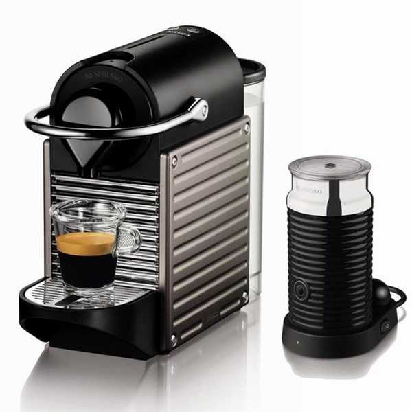 espresso krups nespresso pixie xn301t titanium euronics. Black Bedroom Furniture Sets. Home Design Ideas
