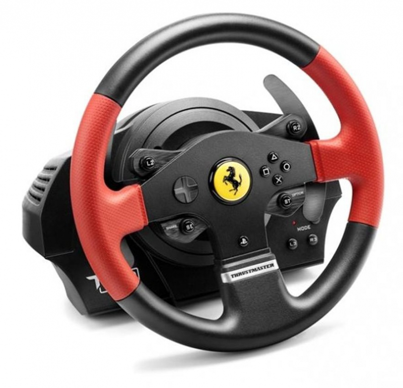 volant thrustmaster t150 ferrari pro ps4 ps3 pc ped ly ern euronics. Black Bedroom Furniture Sets. Home Design Ideas
