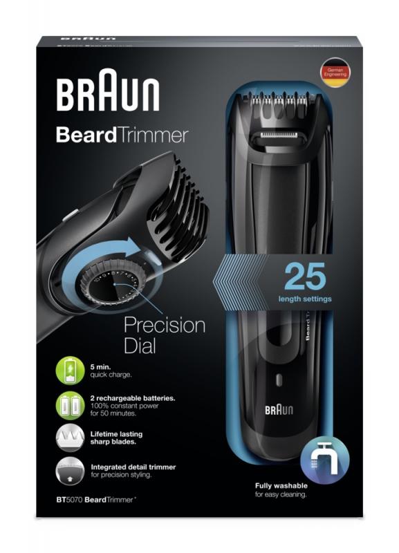 ... Zastřihovač vousů Braun BT 5070 černý ... def180125cf