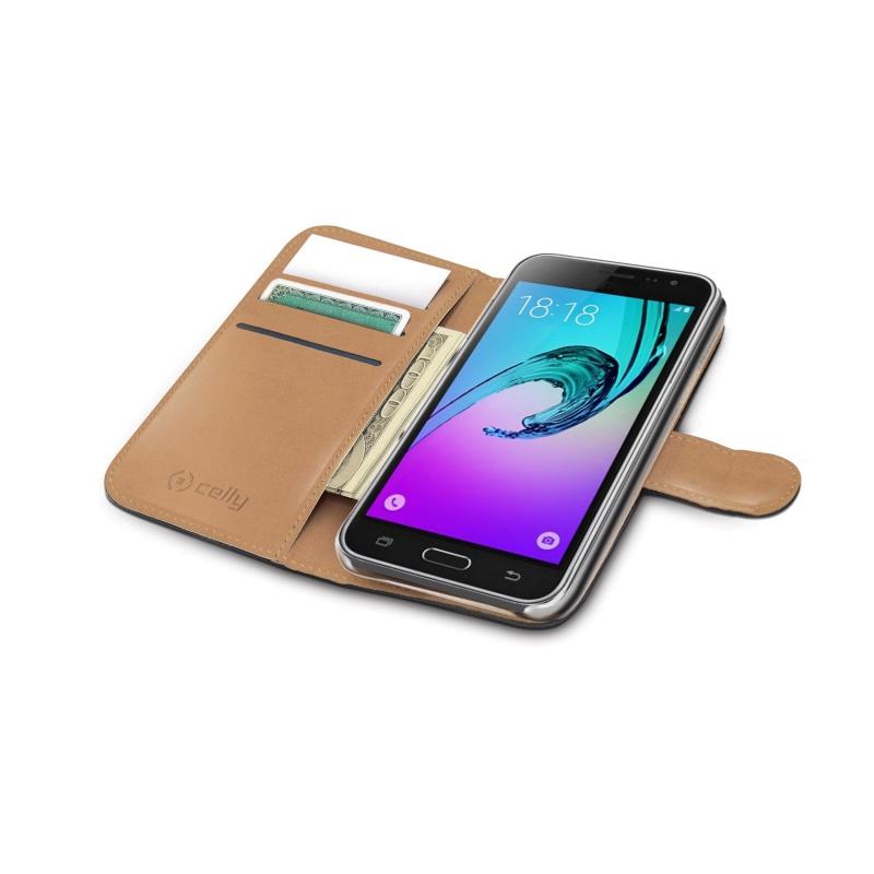 ... Pouzdro na mobil flipové Celly Wally pro Samsung Galaxy J3 (2016) černé f1ad5ded434