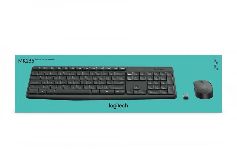 695ebeed0 Klávesnice s myší Logitech Wireless Combo MK235, CZ šedá | EURONICS