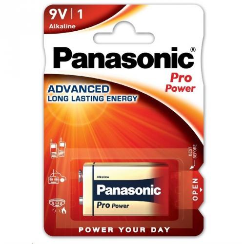 Baterie alkalická Panasonic Pro Power 9V, 6LR61, blistr 1ks