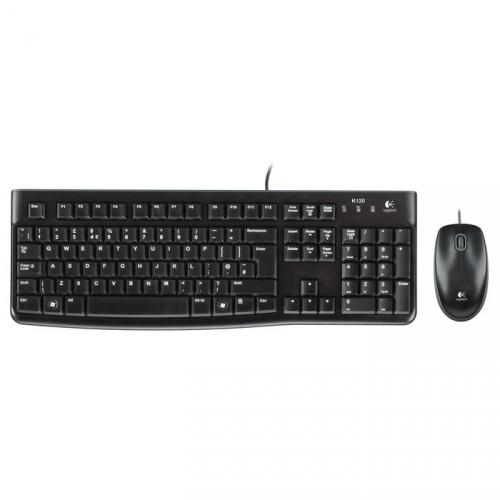 Klávesnice s myší Logitech Desktop MK120, CZ/SK černá