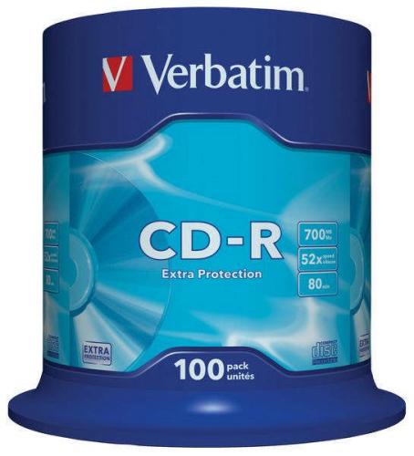 Verbatim CD-R 700MB/80min, 52x, Extra Protection, 100-cake