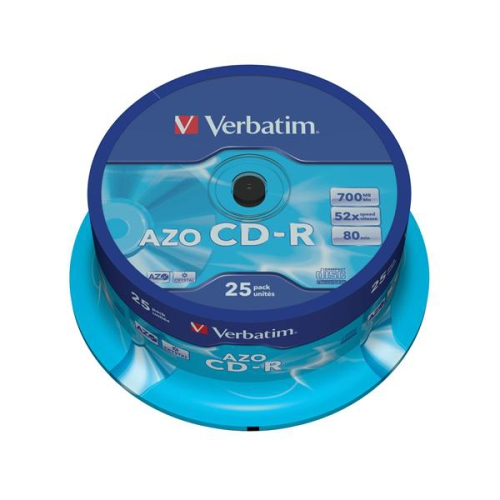 Verbatim CD-R 700MB/80min. 48x, Crystal, 25-cake