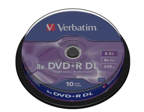 Verbatim DVD+R DualLayer, 8.5GB, 8x, 10-cake