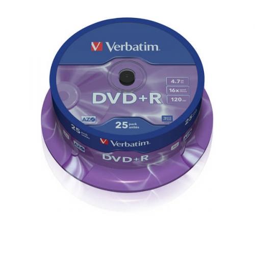 Verbatim DVD+R 4,7GB, 16x, 25-cake