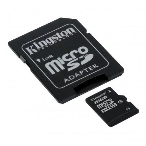 Kingston 16GB UHS-I U1 (30MB/s) + adapter