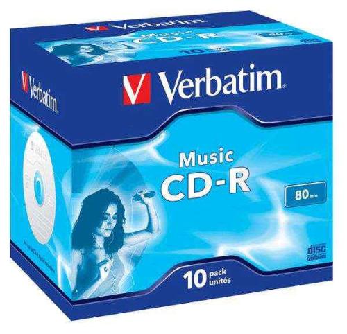 Verbatim CD-R 700MB/80 min. AUDIO LIVE IT!, 10ks