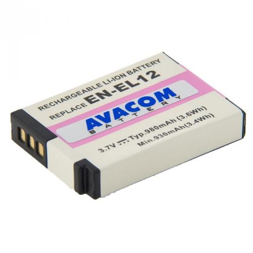 Avacom pro Nikon EN-EL12 Li-ion 3.7V 980mAh šedá