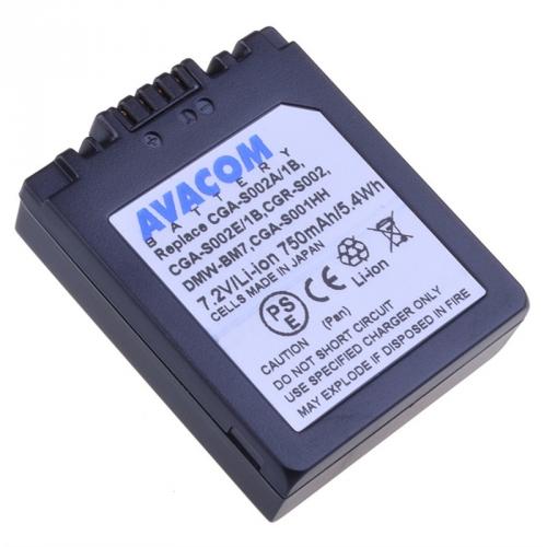 Avacom pro Panasonic CGA-S002, DMW-BM7 Li-ion 7.2V 750mAh