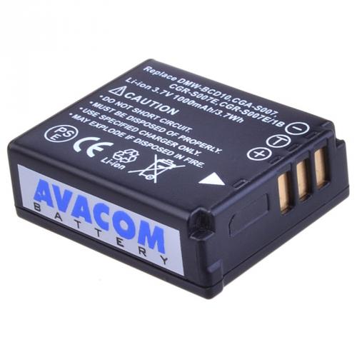 Avacom pro Panasonic CGA-S007/DMW-BCD10 Li-ion 3.7V 1000mAh