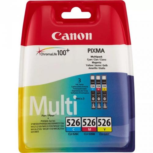 Canon CLI-526 C/M/Y, 340 stran - originální červená/modrá/žlutá