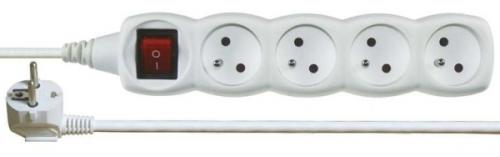 Fotografie Prodlužovací kabel s vypínačem 4 zásuvky 3m