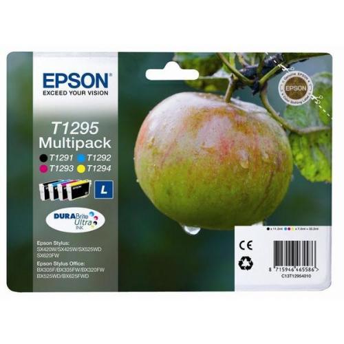 Epson T1295, 32,2ml - originální černá/červená/modrá/žlutá