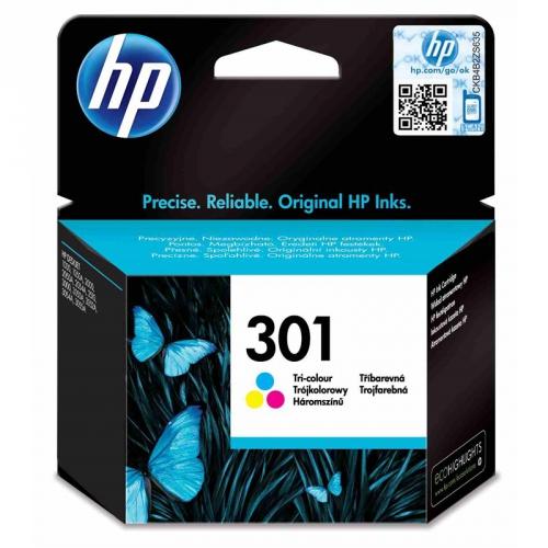 HP Deskjet No. 301, 165 stran - originální červená/modrá/žlutá