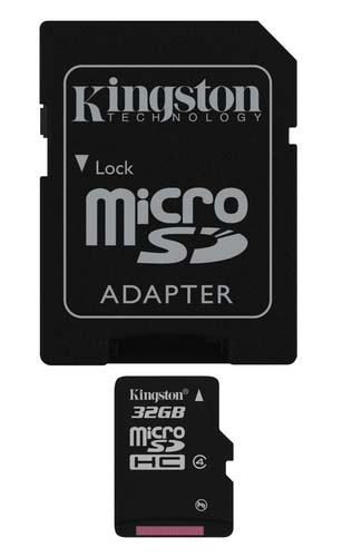 Kingston 32GB Class4 + adapter