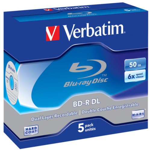 Verbatim BD-R DualLayer 50GB, 6x, jewel, 5ks